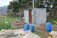COPY BY TOM BEDFORD<br /> Pictured: The small structure where the well is in which the remains of a body have been discovered in Malia, Creete, Greece. Friday 17 February 2017<br /> Re: Police have found the remains of the body in a well near a cemetery in Malia, on the Greek island of Crete with local news outlets speculating that it maybe that of 20 year old Briton Steven Cook who went missing on the 1st of September 2005. A disposable camera and a belt were reportedly found next to the remains.