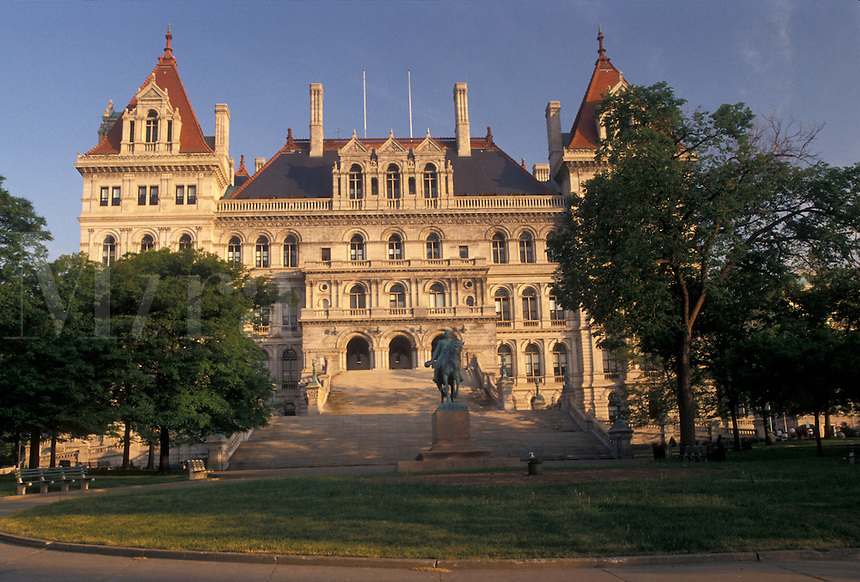 AJ4362, Albany, State Capitol, State House, New York, The State Capitol Building in the capital city of Albany in the state of New York.