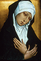 Paintings:  Simon Marmion--Mater Dolorosa.  Groeninge Museum in Bruges.  Reference only.