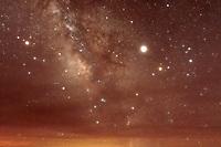 Milky way over Grand Canyon Nationasl Park. Arizona,