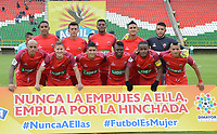 TUNJA - COLOMBIA, 8-03-2018:Formación de Patriotas de Boyacá. Patriotas Boyacá y Atlético Bucaramanga en partido por la fecha 7de la Liga Águila I 2018 jugado en el estadio La Independencia la ciudad de Tunja. / Team of Patriotas of Boyaca.Patriotas Boyaca and Atletico Bucaramanga in match for date 7 of the Aguila League I 2018 played at La Independencia stadium in Tunja city. Photo: VizzorImage / José Miguel Palencia / Contribuidor