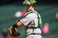 Baylor Bears catcher Matt Menard (23) in action during Houston College Classic against the Hawaii Rainbow Warriors on March 6, 2015 at Minute Maid Park in Houston, Texas. Hawaii defeated Baylor 2-1. (Andrew Woolley/Four Seam Images)