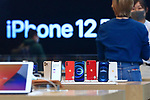 Apple's 5G new iPhone 12 series are seen at an Apple Store in Tokyo, Japan on October 23, 2020. (Photo by Naoki Nishimura/AFLO)