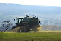 Spreading slurry, Chipping, Lancashire.