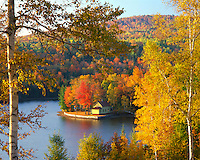 Cabin on shore of Wyman Lake Maine