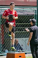 SÃO PAULO, SP, 12.03.2019: TREINO DO SÃO PAULO -SP- O jogador Hernanes, durante o treino do São Paulo no CT da Barra Funda, em São Paulo (SP), nesta terça-feira (12). (Foto: Marivaldo Oliveira/Código19)