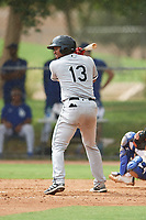 Johnabiell Laureano (13) of the ACL White Sox during a game against the ACL Dodgers on September 18, 2021 at Camelback Ranch in Phoenix, Arizona. (Tracy Proffitt/Four Seam Images)