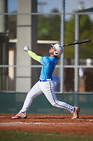 Charles Stevens (1) during the WWBA World Championship at Terry Park on October 10, 2020 in Fort Myers, Florida.  Charles Stevens, a resident of Dunedin, Florida who attends Calvary Christian High School, is committed to Butler.  (Mike Janes/Four Seam Images)