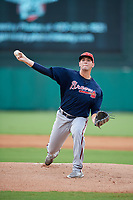 Atlanta Braves pitcher Patrick Weigel (74) delivers a pitch during a Florida Instructional League game against the Canadian Junior National Team on October 9, 2018 at the ESPN Wide World of Sports Complex in Orlando, Florida.  (Mike Janes/Four Seam Images)