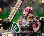 Marylou Martineau, Rio 2016 - Boccia.<br /> The Canadian BC3 team takes on Belgium in mixed pairs preliminaries // L'équipe canadienne BC3 affronte Belgique dans les préliminaires mixtes. 10/09/2016.