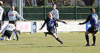 SV Kortrijk - Blauwvoet Otegem ..vreugde van Lode Blomme na de 1-0 voor Kortrijk..foto VDB / BART VANDENBROUCKE