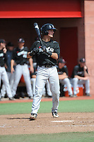 University of Cincinnati Bearcats infielder Connor McVey (18) during a game against the Rutgers University Scarlet Knights at Bainton Field on April 19, 2014 in Piscataway, New Jersey. Rutgers defeated Cincinnati 4-1.  (Tomasso DeRosa/ Four Seam Images)
