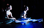 English National Ballet dancers Amber Hunt left, Alison McWhinney right, watching from the wings