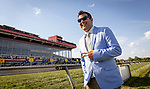 MAY 15, 2021: Track Announcer Chris Griffin at Pimlico Racecourse in Baltimore, Maryland on May 15, 2021. EversEclipse Sportswire/CSM