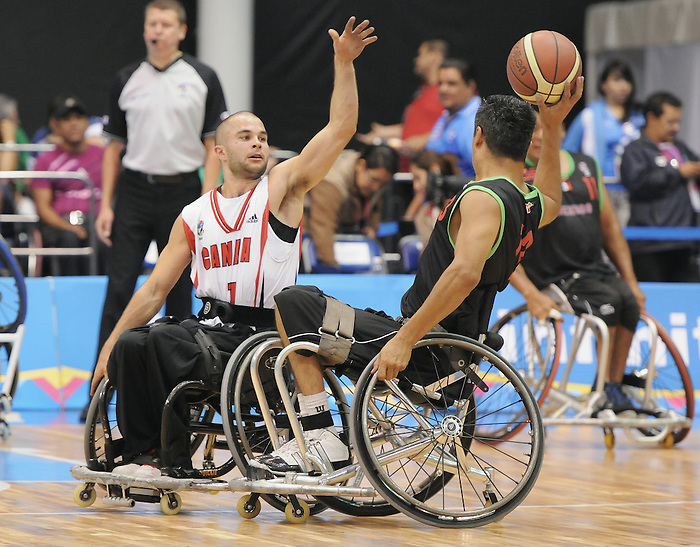 Tyler Miller, Guadalajara 2011 - Wheelchair Basketball // Basketball en fauteuil roulant.<br /> Team Canada competes in the bronze medal game // Équipe Canada participe au match pour la médaille de bronze. 11/18/2011.