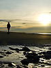When the tide is low Ynyslas Beach is a vast expanse of sand and always provides wonderful views, shapes and patterns in the sand and reflections and colours as the sun sets.<br />