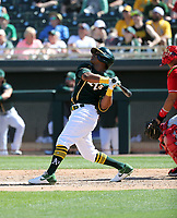 Khris Davis - Oakland Athletics 2020 spring training (Bill Mitchell)