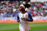 Harrison, NJ - Sunday March 04, 2018: Crystal Dunn during a 2018 SheBelieves Cup match match between the women's national teams of the United States (USA) and France (FRA) at Red Bull Arena.
