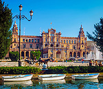 Spanien, Andalusien, Sevilla: Palacio Espanol, Plaza de Espana | Spain, Andalusia,Seville: Palacio Espanol, Plaza de Espana