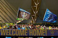 CARSON, CA - JUNE 19: Seattle Sounders Supporters during a game between Seattle Sounders FC and Los Angeles Galaxy at Dignity Health Sports Park on June 19, 2021 in Carson, California.