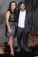 """HOLLYWOOD, CA - DECEMBER 02: Katie Jackson, Peter Jackson arriving at the Los Angeles Premiere Of Warner Bros' """"The Hobbit: The Desolation Of Smaug"""" held at Dolby Theatre on December 2, 2013 in Hollywood, California. (Photo by Xavier Collin/Celebrity Monitor)"""