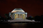 Jefferson Memorial at Night, Potomac Tidal Basin, Washington DC