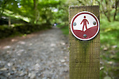 Footpath sign near the village of Croesor in the Snowdonia National Park.