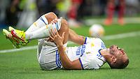 12th September 2021; Estadio Santiago Bernabeu, Madrid, Spain; La Liga, Real Madrid CF versus RC Celta de Vigo; Eden Hazard is hurts on the pitch after a hard tackle