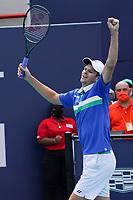 4th April 2021; Miami Gardens, Miami, Florida, USA;  Hubert Hurkacz (POL) wins the mens finals match of the Miami Open on April 4, 2021, at Hard Rock Stadium in Miami Gardens, Florida