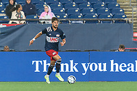 FOXBOROUGH, MA - AUGUST 5: Ryan Sierakowski #99 of New England Revolution II dribbles during a game between North Carolina FC and New England Revolution II at Gillette Stadium on August 5, 2021 in Foxborough, Massachusetts.