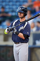 Pensacola Blue Wahoos outfielder Jesse Winker (23) at bat during a game against the Mississippi Braves on May 27, 2015 at Trustmark Park in Pearl, Mississippi.  Pensacola defeated Mississippi 7-5 in fourteen innings.  (Mike Janes/Four Seam Images)