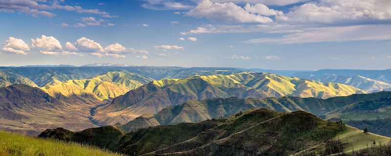 View of Imnaha valley from Buckhorn Overlook. Hells Canyon National Recreation Area.Oregon