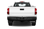 Straight rear view of a 2017 Toyota Tundra 5.7 Auto SR Regular Cab 2 Door Truck Rear View  stock images