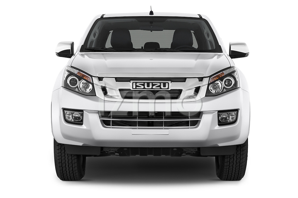Car photography straight front view of a 2015 Isuzu D-Max LSX 4 Door Pickup 2WD Front View