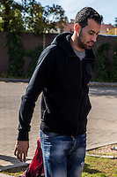 Spainsh Sergio Busquets arriving at the concentration of the spanish national football team in the city of football of Las Rozas in Madrid, Spain. November 08, 2016. (ALTERPHOTOS/Rodrigo Jimenez) ///NORTEPHOTO.COM
