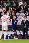 Nagatomo Yuto of Japan (C) in action during the AFC Asian Cup UAE 2019 Semi Finals match between I.R. Iran (IRN) and Japan (JPN) at Hazza Bin Zayed Stadium  on 28 January 2019 in Al Alin, United Arab Emirates. Photo by Marcio Rodrigo Machado / Power Sport Images