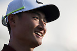 Li Haotong of China at the end of the game during the World Celebrity Pro-Am 2016 Mission Hills China Golf Tournament on 23 October 2016, in Haikou, Hainan province, China. Photo by Victor Fraile / Power Sport Images