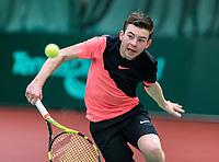 Wateringen, The Netherlands, March 16, 2018,  De Rhijenhof , NOJK 14/18 years, Nat. Junior Tennis Champ. Daniel Verbeek (NED)<br />  Photo: www.tennisimages.com/Henk Koster