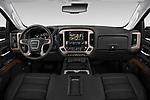 Stock photo of straight dashboard view of 2019 GMC Sierra-2500 Denali 4 Door Pick-up Dashboard