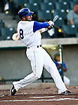 Fort Worth Cats Outfielder Brian Fryer (8) in action during the American Association of Independant Professional Baseball game between the Amarillo Sox and the Fort Worth Cats at the historic LaGrave Baseball Field in Fort Worth, Tx. Fort Worth defeats Amarillo 5 to 3.