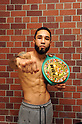 Boxing : New champion Luis Nery of Mexico poses WBC bantamweight championship belt