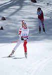 Sochi, RUSSIA - Mar 16 2014 - Caroline Bisson competes in Cross Country Skiing Women's 5km Standing at the 2014 Paralympic Winter Games in Sochi, Russia.  (Photo: Matthew Murnaghan/Canadian Paralympic Committee)