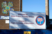 """Pictured: A general view of Glan-yr-Afon Primary school in, Cardiff, South Wales, UK. Monday 29 October 2018<br /> Re: Head teacher Kevin Thomas has been sentenced for sexually assaulting a woman in his office at a Cardiff primary school.<br /> 46 year old Thomas, of Cardiff, attacked the woman after becoming """"infatuated"""" with her, the Crown Court heard.<br /> Thomas, a married father of two, was cleared of one count of assault but found guilty of another. <br /> He was suspended from his job at Glan-yr-Afon Primary school in, Cardiff, in March 2017 after the allegations.<br /> The court had previously heard how he had emailed the woman repeatedly expressing his feelings for her."""