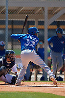 Toronto Blue Jays Joseph Reyes (32) during a Minor League Spring Training game against the Detroit Tigers on March 22, 2019 at the TigerTown Complex in Lakeland, Florida.  (Mike Janes/Four Seam Images)