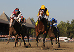 28 August 10: Discreetly Mine and jockey John Velasquez win the King's Bishop Stakes at Saratoga Race Course in  Saratoga Springs, New York.