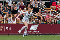 NEWTON, MA - AUGUST 29: Andi Barth #21 of Boston College controls the ball during a game between University of Connecticut and Boston College at Newton Campus Soccer Field on August 29, 2021 in Newton, Massachusetts.