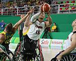 David Eng, Rio 2016 - Wheelchair Basketball // Basketball en fauteuil roulant.<br /> The Canadian men's wheelchair basketball team face Australia in the preliminary rounds // L'équipe canadienne masculine de basketball en fauteuil roulant affrontera l'Australie en ronde préliminaire. 10/09/2016.