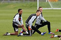 Swansea City FC, training session, Llandarcy, Swansea, 16/03/12<br /> Pictured: Scott Sinclair, Josh McEachran, Gylfi Siggurdson<br /> Picture by: Ben Wyeth / Athena Picture Agency<br /> info@athena-pictures.com