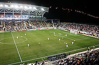 An overall view of the game. The men's national teams of the United States (USA) and Colombia (COL) played to a 0-0 tie during an international friendly at PPL Park in Chester, PA, on October 12, 2010.