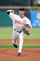 Andrew Kown #37 of the Fresno Grizzlies plays for the Pacific Coast League All-Stars in the annual Triple-A All-Star Game against the International League All-Stars at Spring Mobile Ballpark on July 13, 2011  in Salt Lake City, Utah. The International League won the game, 3-0. Bill Mitchell/Four Seam Images.